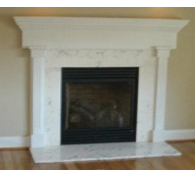 Cultured Marble Surround with Hearth