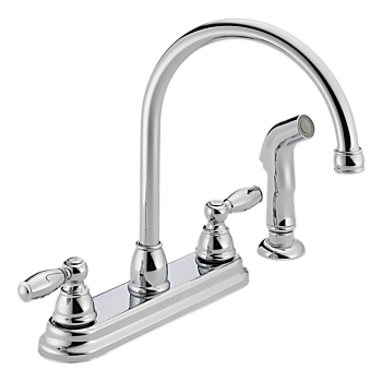 Two Handle Kitchen Faucet w/Separate Spray