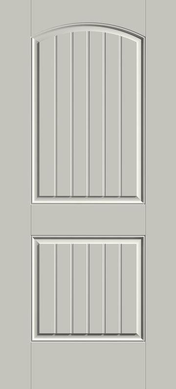 S205 - 2-Panel Arch w/Grooves Front Door